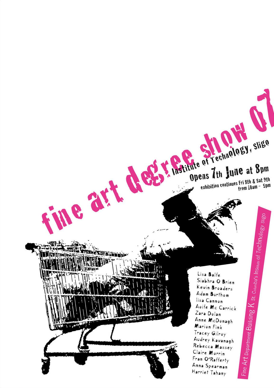 Zara poster design - Sligo It Fine Art Degree Show