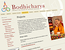 Bodhicharya International website