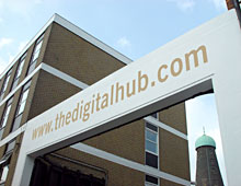 The Digital Hub – Building Signage