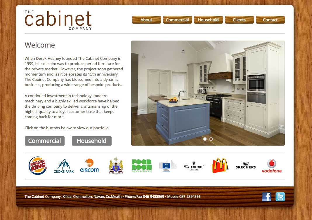 The Cabinet Company Website