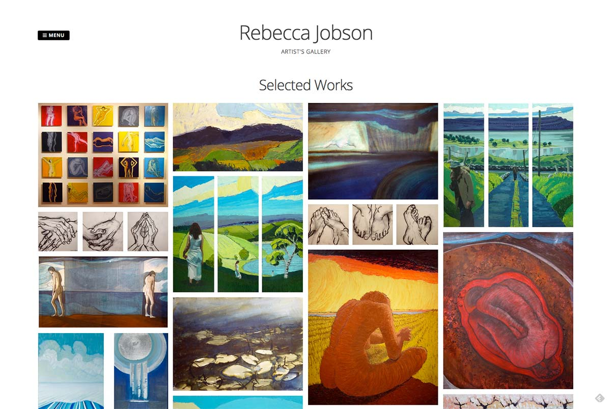 Rebecca Jobson website design
